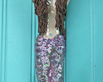12 inch Cottage Chic Mermaid Hook