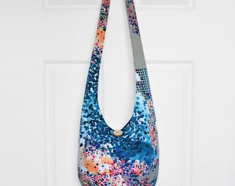 Hobo Bag Hippie Purse Crossbody Bag Sling Bag Hippie Bag Boho Bag Bohemian Purse Hobo Purse Slouchy Bag Geometric Fabric Bag Gypsy Purse