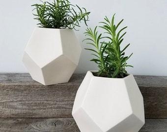 Porcelain Pentagon Planter