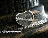 YOUR Babys Actual RAISED or Deeply Etched HEARTBEAT in 925 Sterling Silver Personalized Forever Memorial Necklace Sterling or Leather Cord