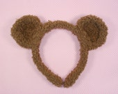Fuzzy bear headband-Brown Bear Headband-Lolita headband-Halloween-Anime-Photo Prop-Christmas Gift-Animal Headband-Mori kei-Harajuku-Hime