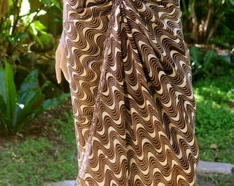 Swimsuit cover up, Brown Batik Sarong, Beach Sarong, Pareo