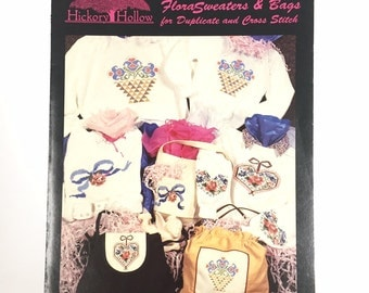 Hickory Hollow 'FloraSweaters & Bags' for Duplicate and Cross Stitch Leaflet DS-59