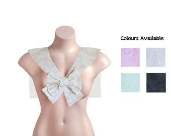 Lace Collar Fuku / Seifuku (制服) Japanese School Uniform Small Long Tailed Bow