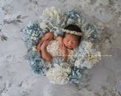 FLORAL CROWN COLLECTION ~ Newborn Photo Prop, Newborn Headband, Newborn Tieback, Newborn Crown, Newborn Halo, Photography Props, Organic