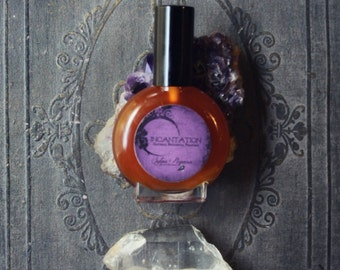 Natural organic perfume - dark amber patchouli jasmine ho wood vetiver - INCANTATION - choose size
