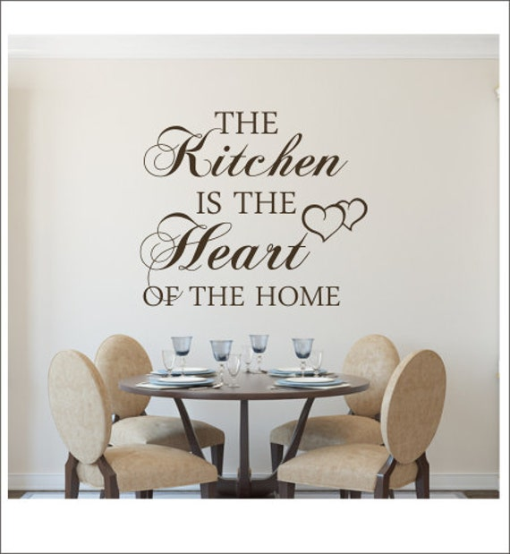 Items Similar To The Kitchen Is The Heart Of The Home Wall