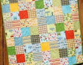 Car Baby Boy Quilt, Cruiser Blvd, Car Blanket, Green Yellow Red Blue White, Automobile Decor, Vehicle Quilt, Handmade Quilt, Car Bedding