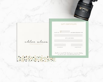 photography marketing template set includes logo business card