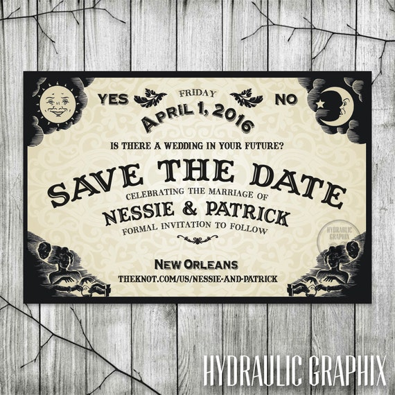 Ouija Board Save the Date for Wedding Halloween Wedding Invite – Halloween Wedding Save the Dates