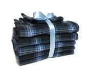 Flannel Burp Cloth Set - Baby Boy Burp Cloths - Buffalo Plaid - Lumberjack Baby - Plaid Burp Rags - Baby Burp Pads - Gifts for Baby Boys