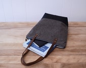 Zipper Tote Bag in Espresso with Waxed Canvas