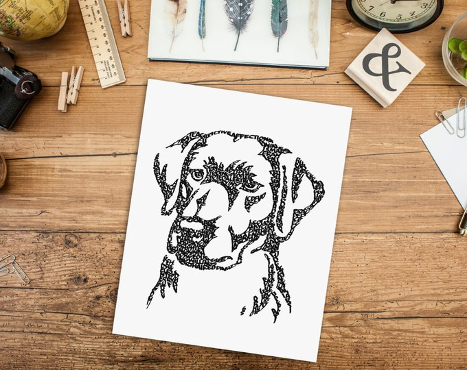 Labrador Love! A Limited Edition Print of a Hand-lettered Image