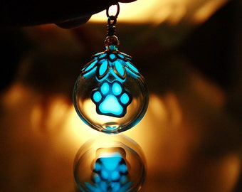 PAW Glow in the Dark in Glass Bubble Pendant