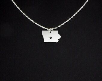 Iowa Necklace - Iowa Jewelry - Iowa Gift