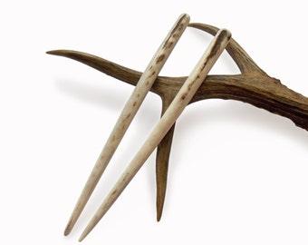 Hair chopsticks, hair sticks, Deer antler Hair pins, Haarschmuck, Antler Hair accessory, Natural Hair Accessories, Handmade by MariyaArts