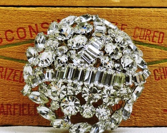 Rhinestone Brooch signed Hobe, Free Shipping to US