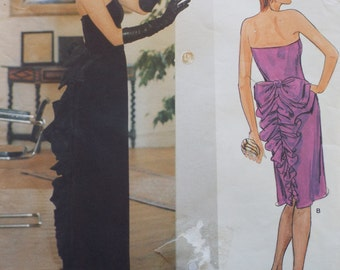 Lovely Vogue designer original Bellville Sassoon evening dress pattern Vogue 1275