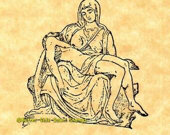 Michelangelo's The Pieta Rubber Stamp