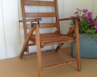 Childs Folding Wooden Arm Chair Card Table Chair Banquet Chair Hanging Chair