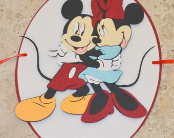 Mickey & Minnie Mouse Birthday Banner Party, Decoration, Twins