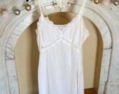 Vintage White Slip w/Lace Details