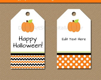 Halloween gift tags etsy printable halloween tags pumpkin halloween tags pumpkin tags pumpkin favor tags editable negle Image collections