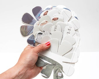 50 large flower die cuts  made from beautiful rescued paper