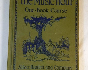 Music Hour One Book Course 1932 Silver Burdett Music Instruction Schoolbook Illustrated