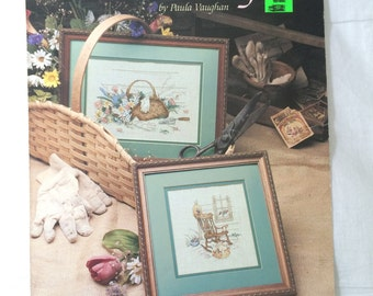 Fresh Cuttings Counted Cross Stitch Pattern Chart by Paula Vaughan Book 11