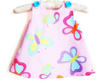 Butterfly - Pink - Summer Toddler Dress - Gift - Beach Dress -Daily Wear -  Photo Shot - Toddler Clothing - Newborn