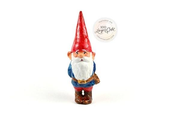 Plastic Toy Terrarium Garden Gnome Figurine (3inch) (True size)