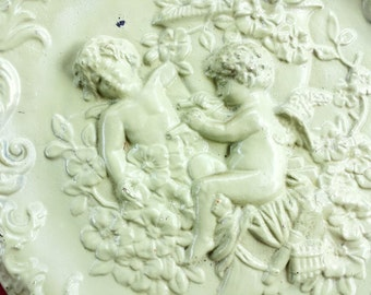 Baroque Angels Decorative Plaster Wall Hanging