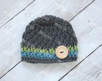 Baby boy hat, newborn boy hat, newborn photo prop, baby boy outfit, baby boy hats, coming home outfit, baby boy, newborn boy, crochet hat