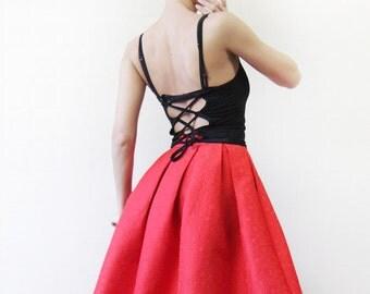 r e s e r v e d French vintage black corset tie lace up backless festival crop top XS-S