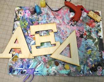 BeArtXi Wooden Greek Alpha Xi Delta Letters.