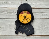 Wookie Vinyl Record Clock ~ Upcycled Recycled Repurposed, Handmade Star Wars Silhouette, Unique Geek Gift Idea for Men, Bachelor Present