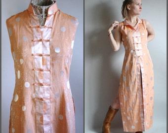 Pink and Purple Iridescent 100% Silk Kimono Robe Asian Dress