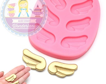 Angel Wings Silicone Mold 484L Fondant Gumpaste Polymer Clay fimo Cookie topping Chocolate Melts Flexible Mold BEST QUALITY