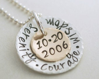 Recovery Custom Date Necklace Personalized Sobriety Gift - Recovery Jewelry - Anniversary Jewelry