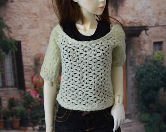 1/3 doll ~ Black tank top & teal jumper | BJD