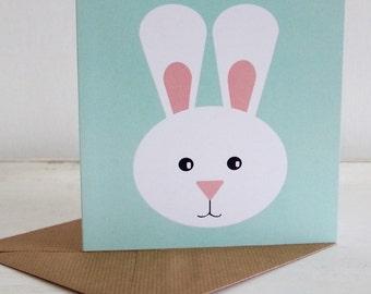 Miss Rabbit Greetings Card