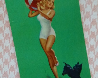 3 Rare Unsigned Vintage Pin Up Playing Cards