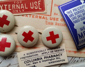 Early 1900's Antique Red Cross Pins | WWI Era