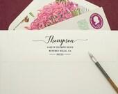 Custom Address Stamp - Wavy Cursive Self Inking Return Address Stamp