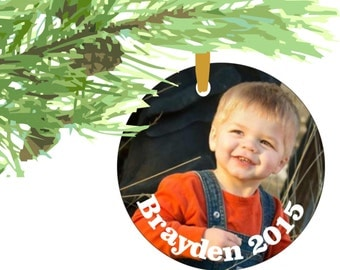 ornament, customized christmas ornament, photo ornament, suncatcher, personalized suncatcher, personalized ornament