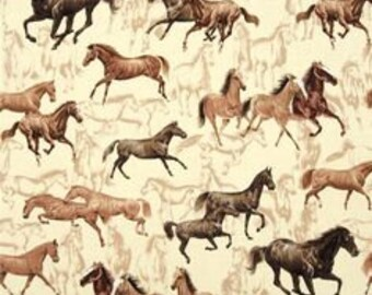"""Wild Horses, by Exclusively Quilters - 44"""" x 33"""""""