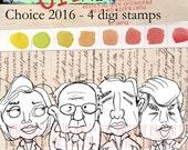 Choice 2016 - 4 digi stamps