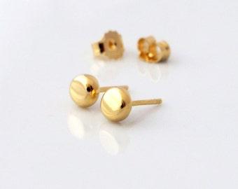 Gold Stud Earrings, Small Gold Stud Earrings