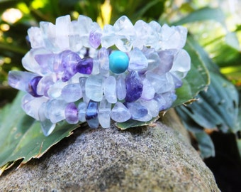 Amethyst and Crystal Turquoise Bracelet